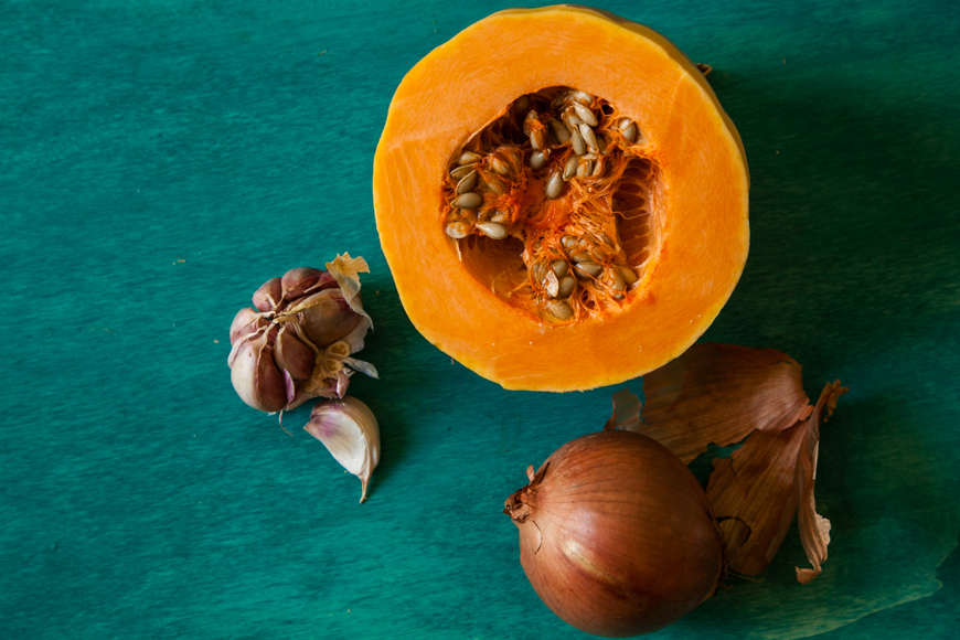 butternut squash with garlic and onion