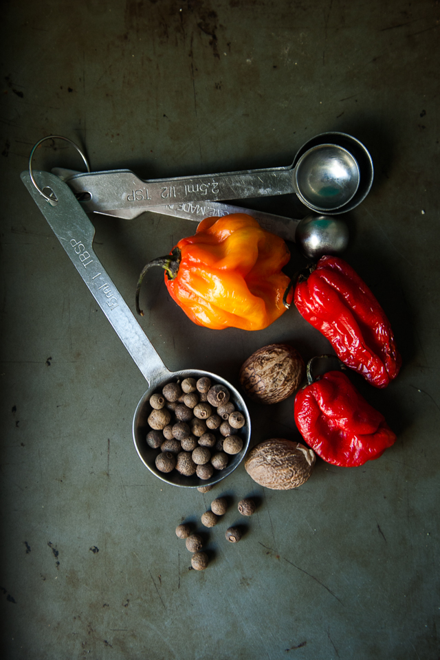 Allspice, nutmeg and chillies