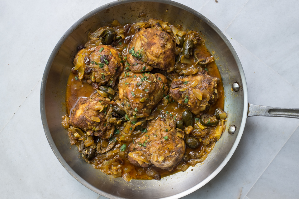 Moroccan chicken tagine with preservedlemon and